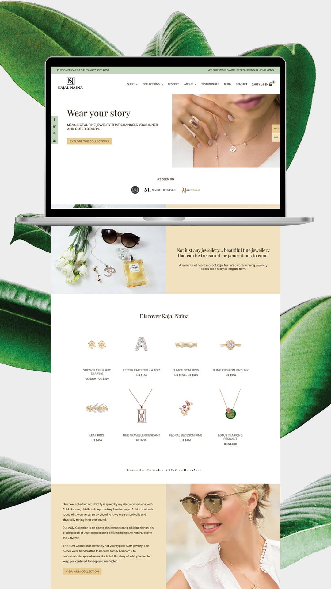 Kajal Naina website by gabuko